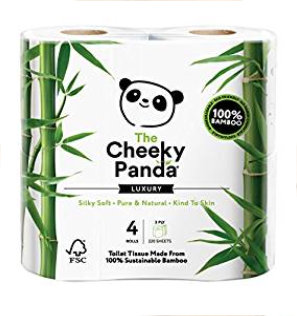 The Cheeky Panda Toilettenpapier, 100 Prozent Bambus